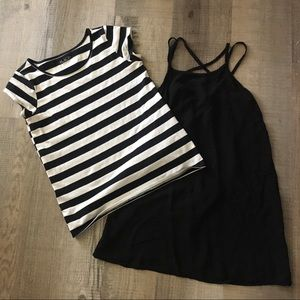 2 piece Black and white dress with top